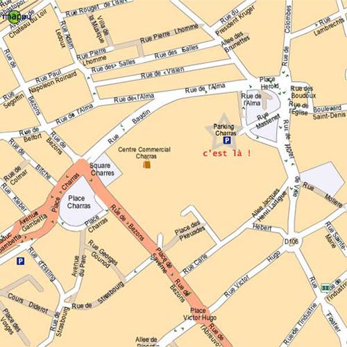 Plan d 39 acces au magasin abri sous roche - Piscine charras courbevoie ...