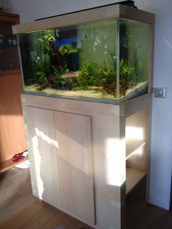 Meuble aquarium hetre